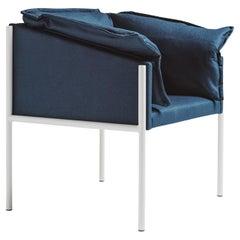 Carmen Blue Armchair by Angeletti Ruzza