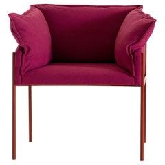 Carmen Carmine Red Armchair by Angeletti Ruzza