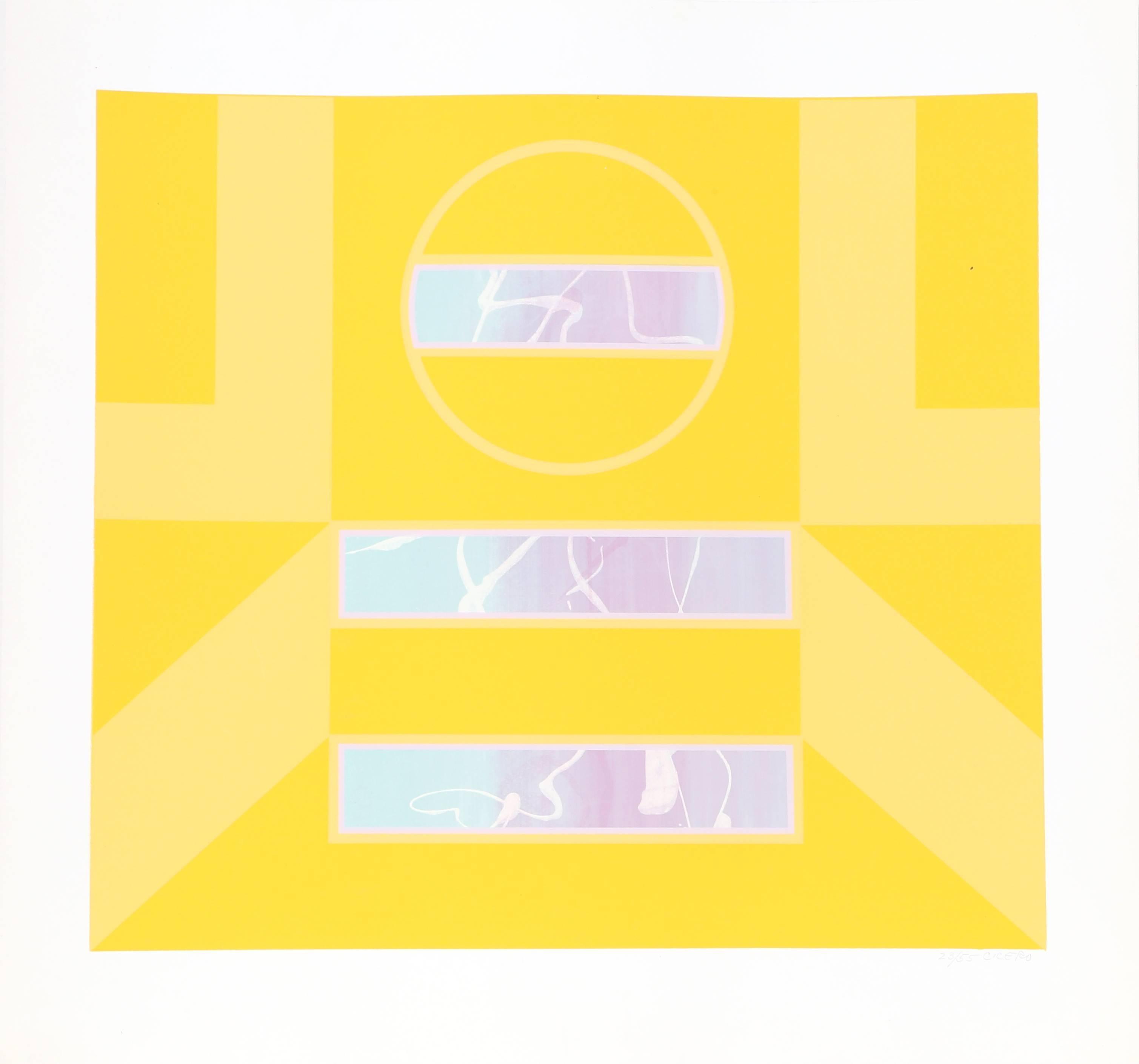 Abstract Yellow Silkscreen by Carmen Cicero