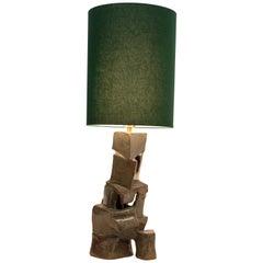 Carmen D'apollonio, Lean on Me, Lamp, Green, Ceramic, Cotton Shade, 2019
