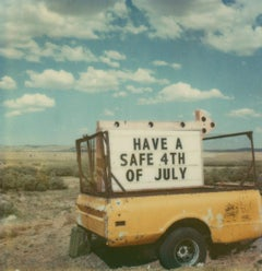 4th of July #70 (US Road trip Diary) - Polaroid, Landscape, US, Color