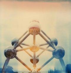 Atomium #06 [With greetings from] - Polaroid, Landscape, Belgium, Color