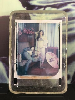Blue Lotus  - Unique piece - Original Polaroid, Women, Contemporary