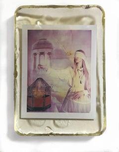 Canary - Unique piece - Original Polaroid, Women, Contemporary, Color
