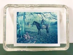 Cavalry  - Unique piece - Original Polaroid, Women, Contemporary, Blue