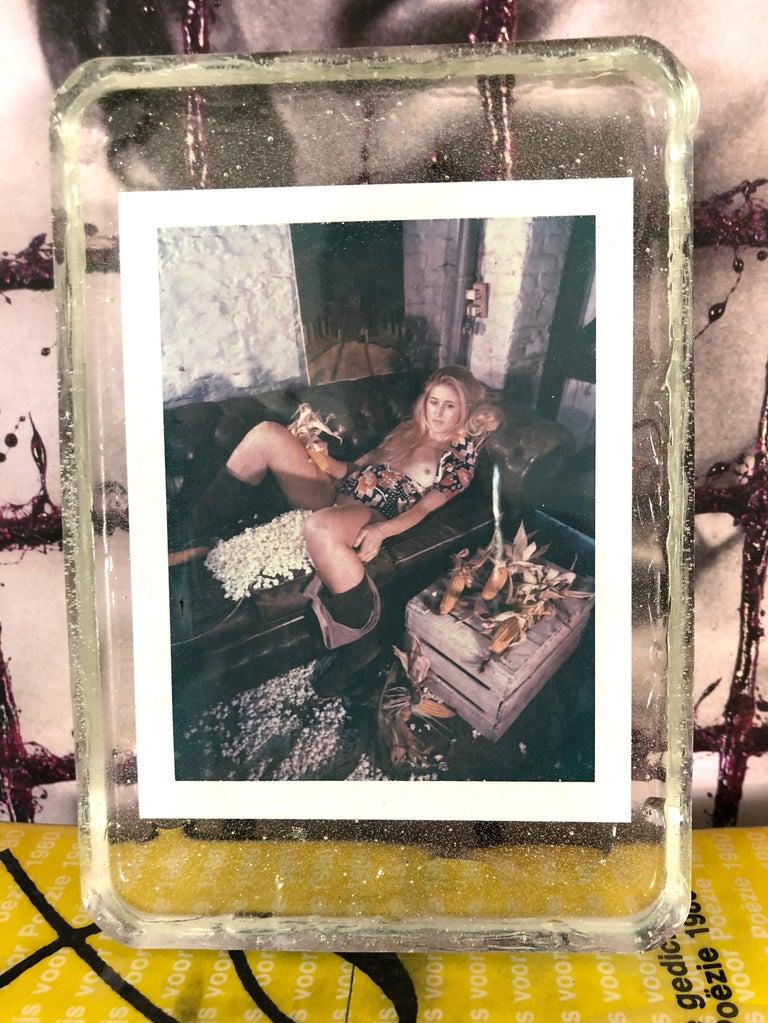 Corn Fest - Unique piece - Original Polaroid, Women, Contemporary, Nude - Photograph by Carmen de Vos