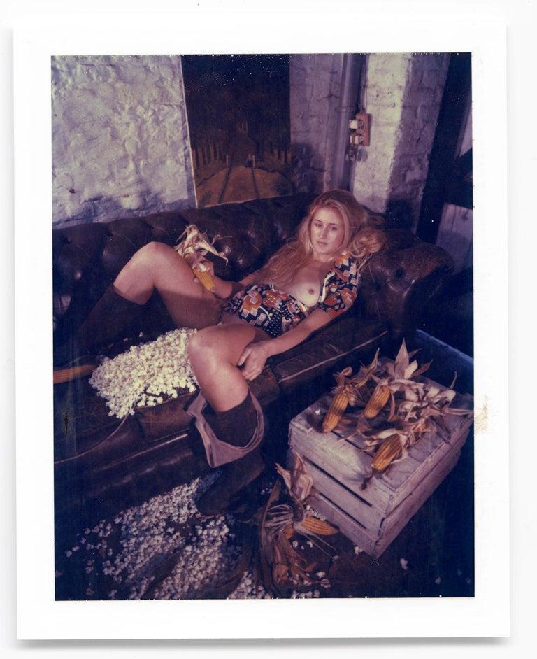 Carmen de Vos Figurative Photograph - Corn Fest - Unique piece - Original Polaroid, Women, Contemporary, Nude