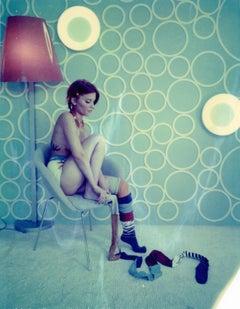 Pipi Langoureuse  - Unique piece - Original Polaroid, Women, Contemporary, Blue