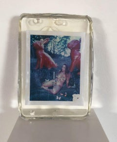 Rabbit Hole - Unique piece - Original Polaroid, Women, Contemporary, Color