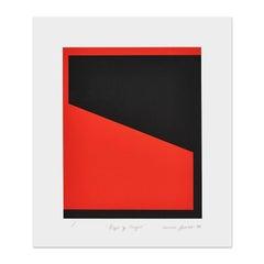 Rojo y Negro, Abstract Art, Geometric, Minimalism, Hard-Edge