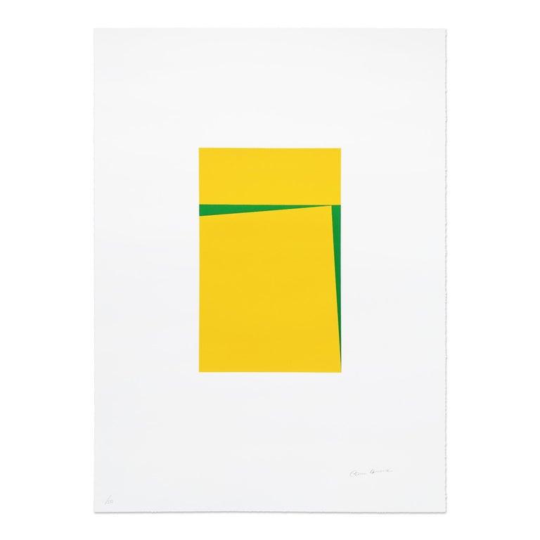 Carmen Herrera Abstract Print - Untitled, Silkscreen, Abstract Artist, Geometric, Minimalism, Hard-Edge