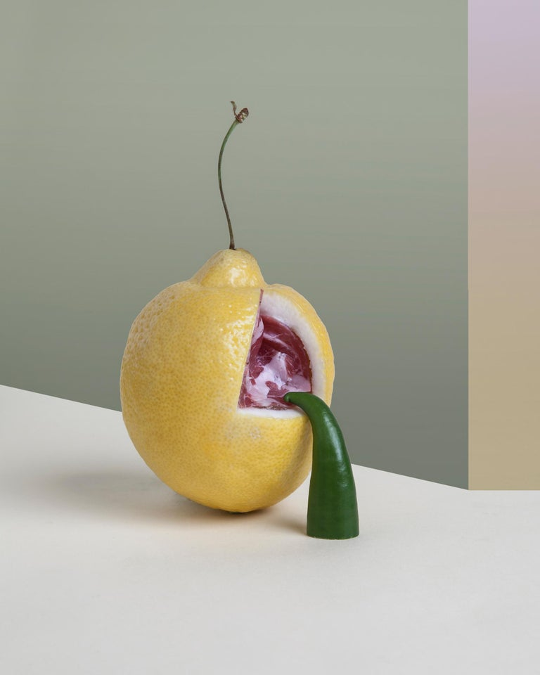 """The feeling of photography is very similar to that of a painting. The print is made on hahnemuhle cotton paper and then mounted on aluminum. The photo can be sold with or without a frame.  Dead food for new worlds """"What will we eat in the"""