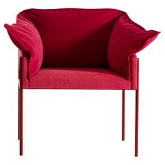 Carmen Red Armchair by Angeletti Ruzza