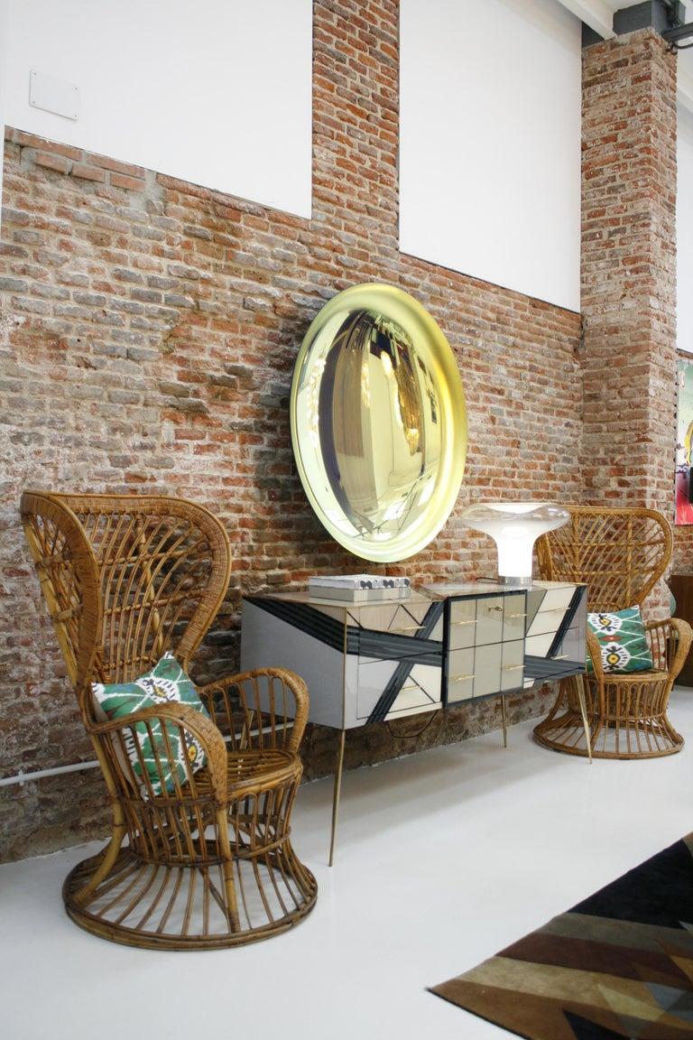 Carminati Mid-Century Modern Bamboo Rattan Italian Armchair For Sale 5