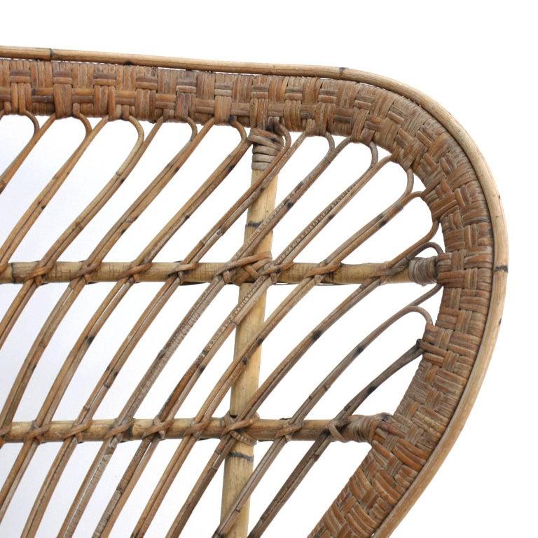Mid-20th Century Carminati Mid-Century Modern Bamboo Rattan Italian Armchair For Sale