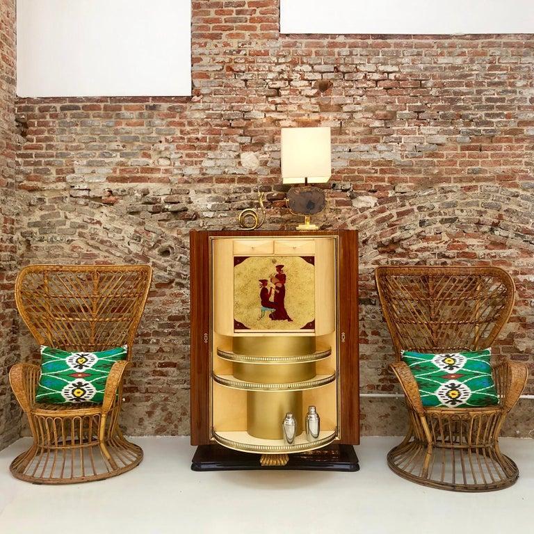 Carminati Mid-Century Modern Bamboo Rattan Italian Armchair For Sale 3