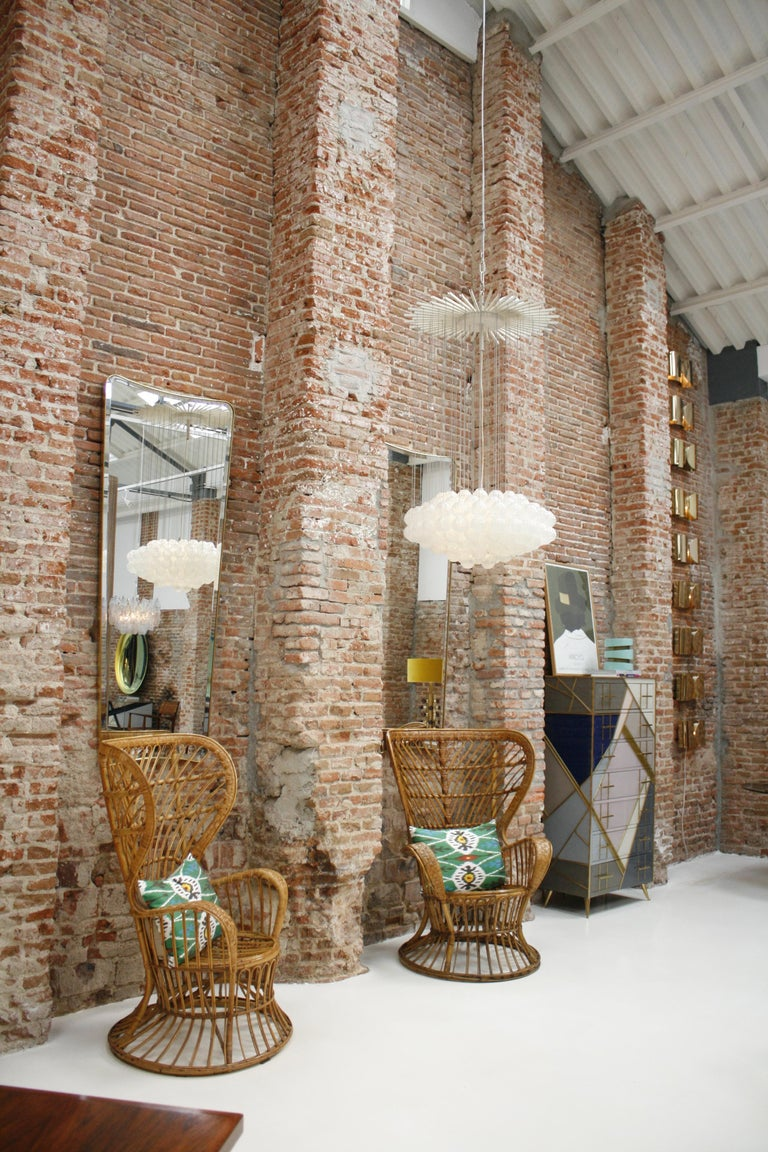 Carminati Mid-Century Modern Bamboo Rattan Italian Armchair For Sale 4