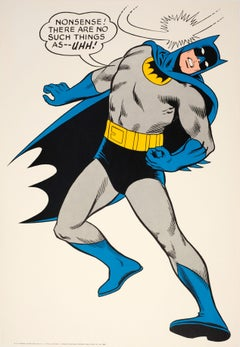 "Original Vintage Cartoon Batman Poster For The Iconic Comic Superhero ""...Uhh!"""
