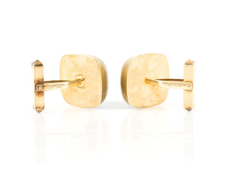 Carnelian Cufflinks In Good Condition For Sale In New York, NY