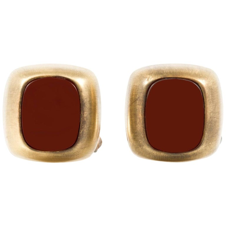 Carnelian Cufflinks For Sale