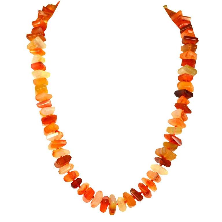 Carnelian Slice Gold Necklace
