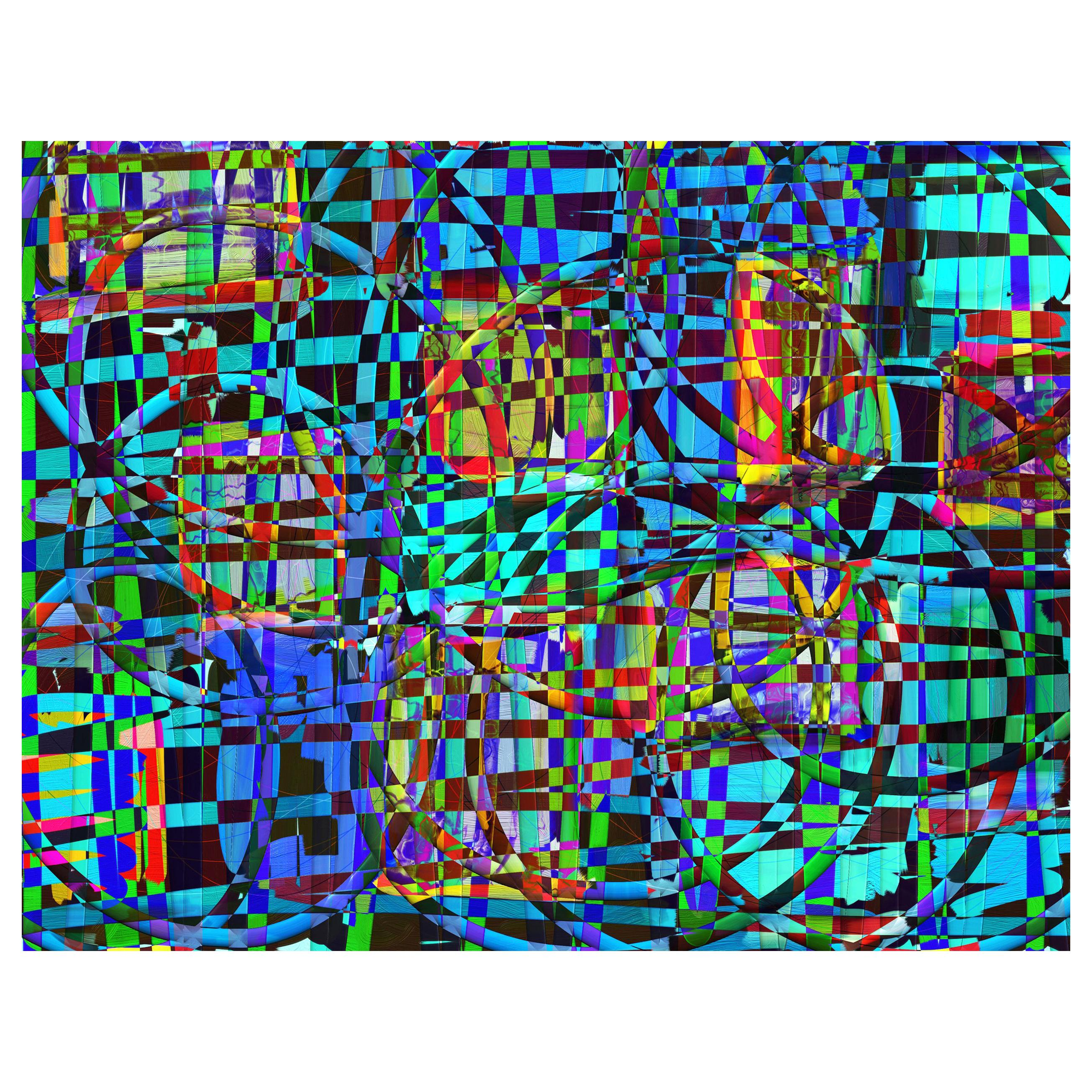"Abstract Archival Digital Fine Art Print ""Carnival"" by William P. Montgomery"