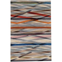 Carnival Hand-Knotted 6x4 Floor Rug in Wool by Paul Smith