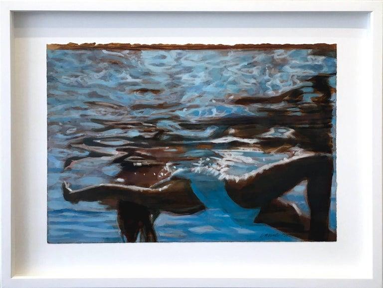 Carol Bennett Figurative Painting - Light Catcher (on paper)