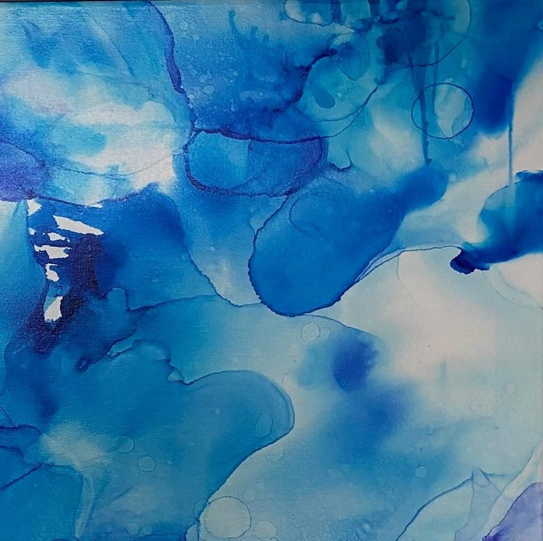 The blue water is luminescent and often transparent!  The elements of the composition seem to float and flow and breathe as though living, adding endless interest to this archival ink work of fine art.  The artist's extraordinary use of modern