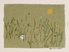 Hidden Bird In A Field 1960-70s Serigraph