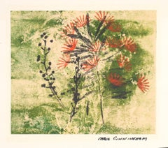 Small Botanical Abstract Monotype, 1963