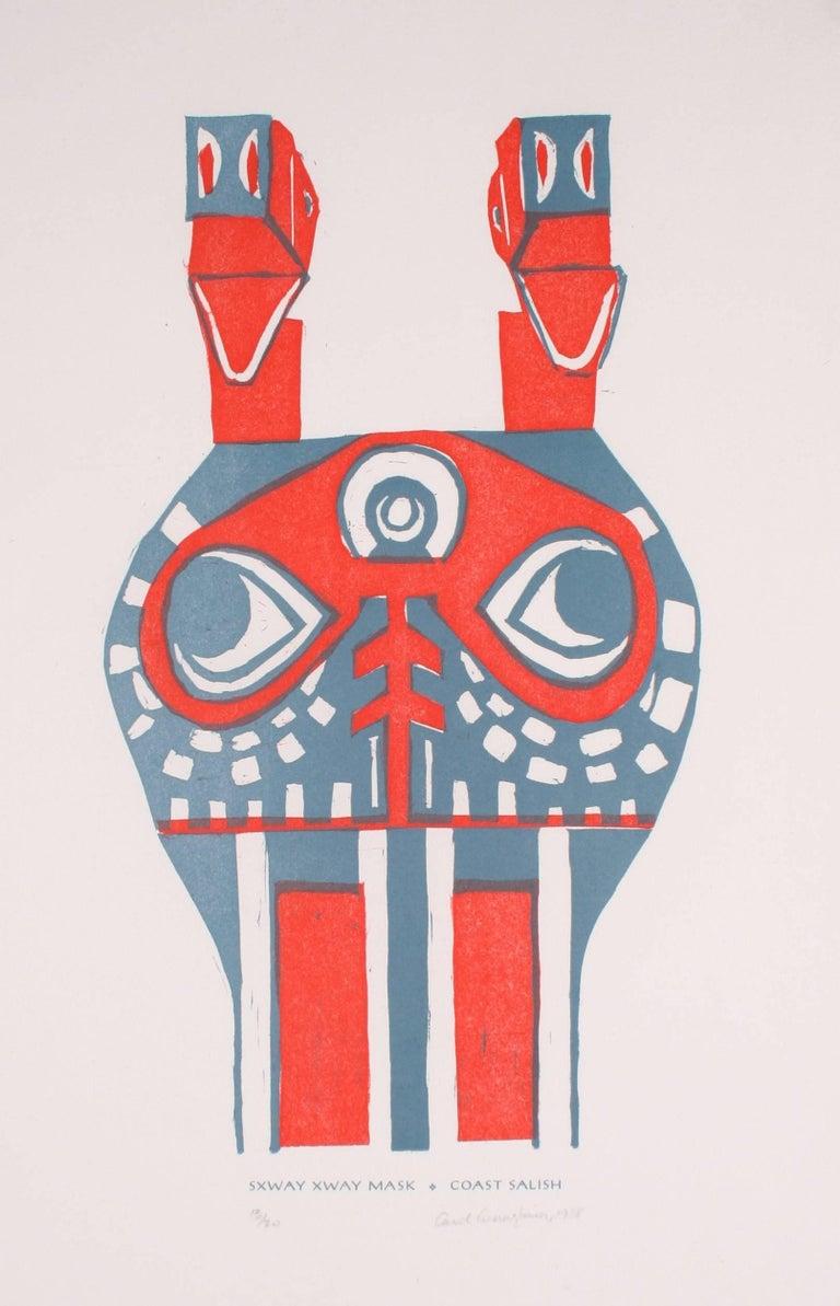 """Sxway Xway Mask"" Serigraph Print, 1988"