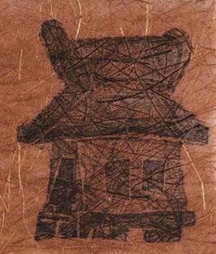 """The Shabby Shack"" Late 20th Century Linoleum Block Print"