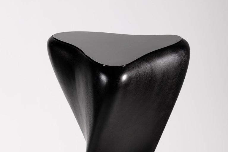Blackened Carol Egan, Hand Carved Pedestal, United States, 2014 For Sale