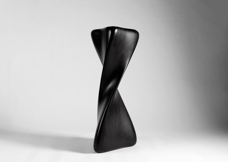 Carol Egan, Hand Carved Pedestal, United States, 2014 In Excellent Condition For Sale In New York, NY