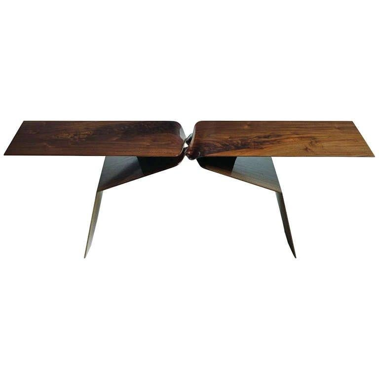 American Carol Egan, Sculptural Hand-Carved Walnut Coffee Table, USA, 2013 For Sale