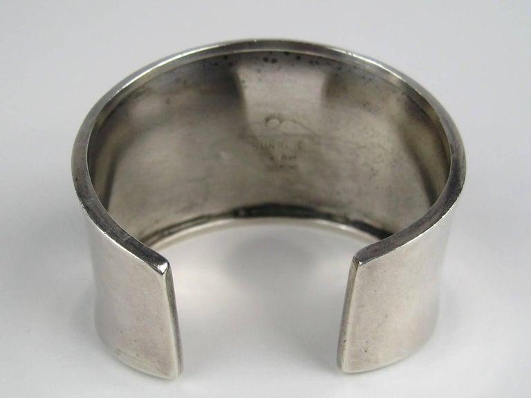 Women's or Men's Carol Felley Story Teller Sterling Silver 1989 Cuff Bracelet For Sale