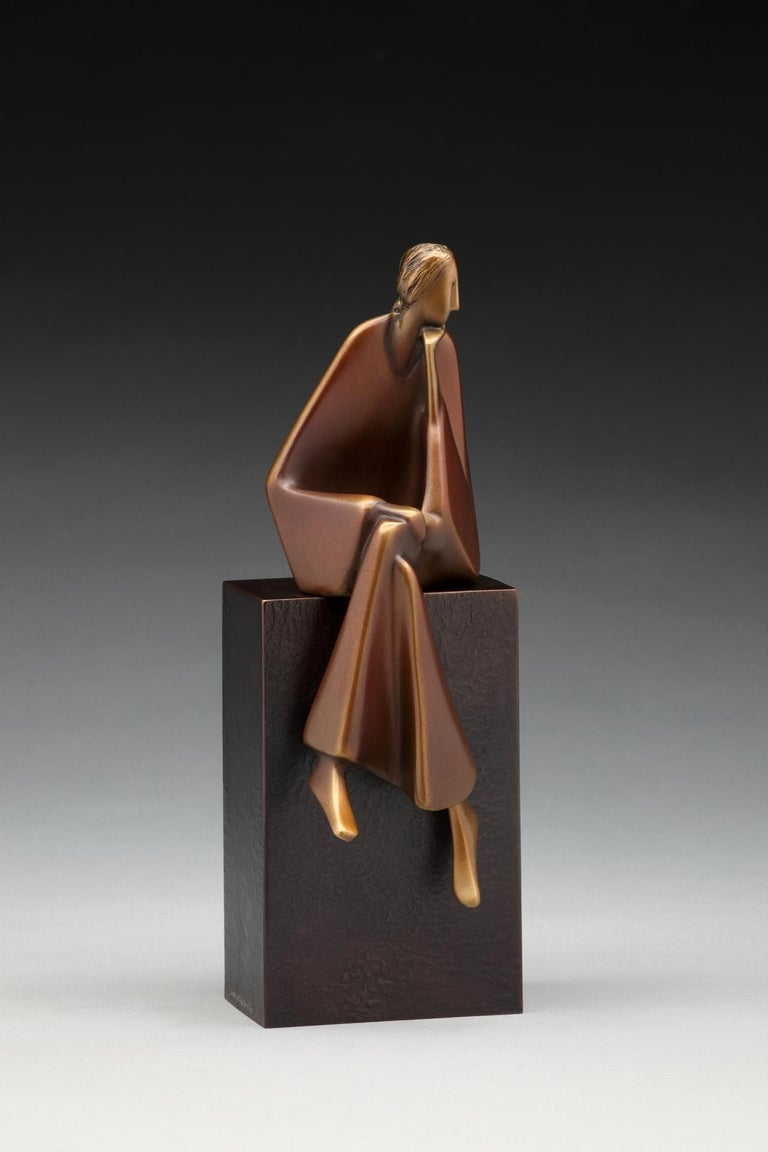 Carol Gold Nude Sculpture - Listening