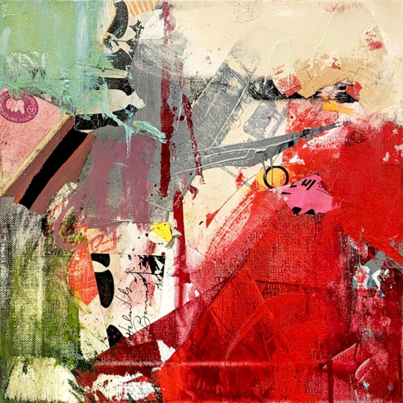 CLIMB - red abstract painting