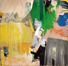 SPRING - yellow and green abstract painting