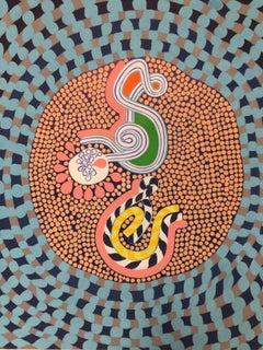 Pop Art, Oil on Canvas Painting: 'Dandelion'