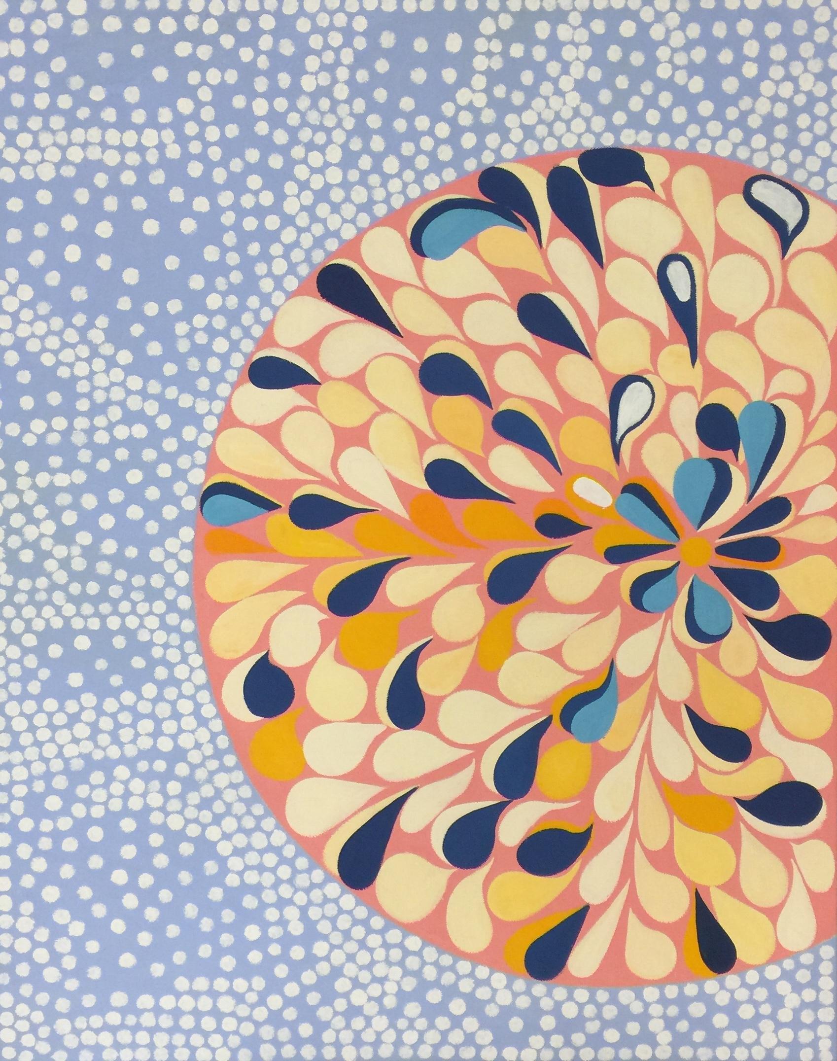 Pop Art Oil Painting on Canvas: 'Flowered'