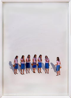 Unititled #163 (Acrylic Painting of 7 Female Figures in School Uniforms)