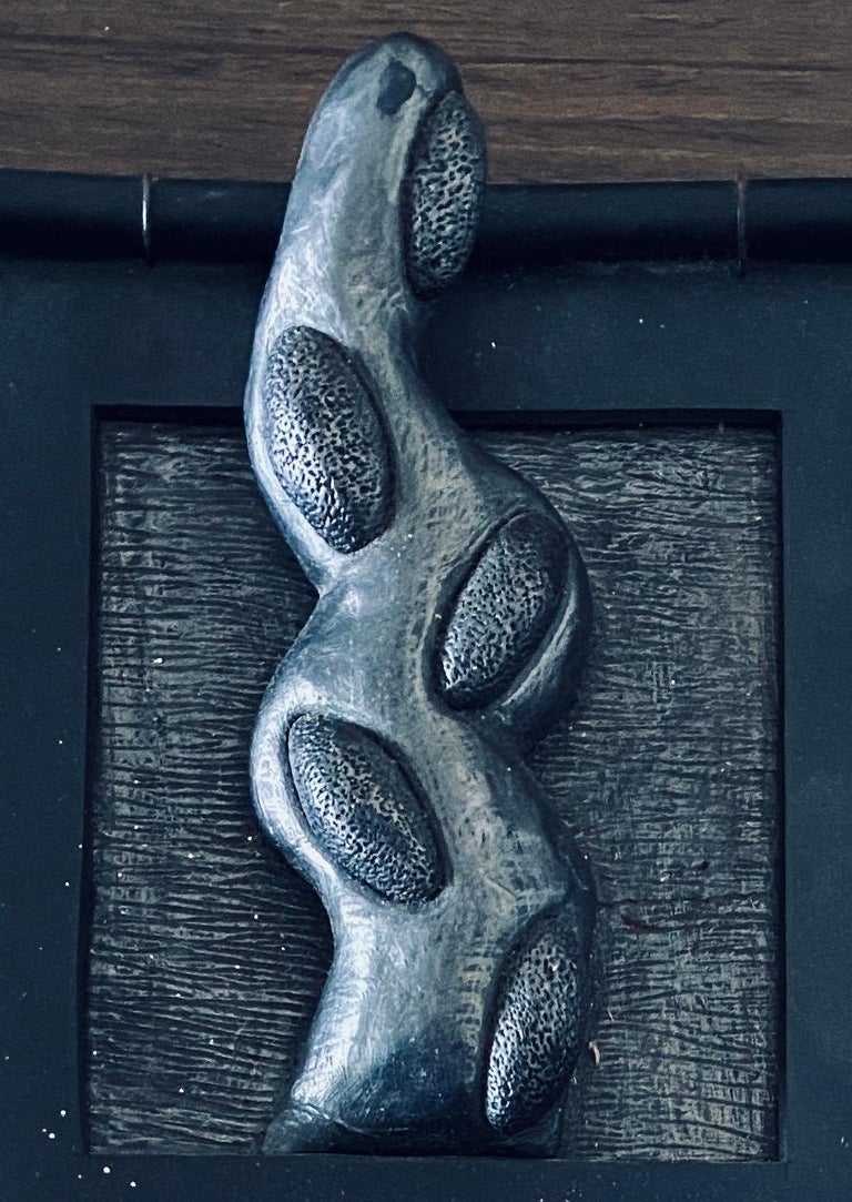 Abstract Mixed Media Biomorphism Wall Sculpture. Miami Artist Carol K Brown   For Sale 1
