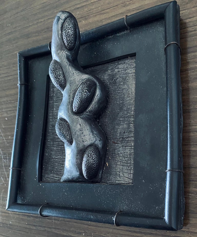 Abstract Mixed Media Biomorphism Wall Sculpture. Miami Artist Carol K Brown   For Sale 3