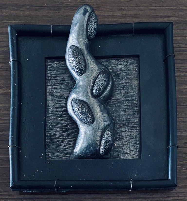 Abstract Mixed Media Biomorphism Wall Sculpture. Miami Artist Carol K Brown   - Mixed Media Art by Carol K. Brown