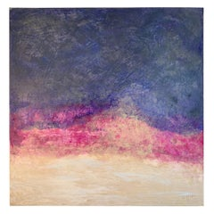 "Carol Post, ""A Touch of Magenta"", Venetian Plaster and Acrylic on Canvas, 2018"