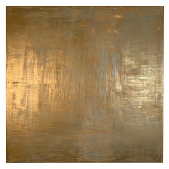 "Carol Post, ""Bronze"", Venetian Plaster and Acrylic on Canvas"