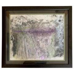 "Carol Post, ""Encaustic Landscape"", Pigmented Beeswax on Handmade Paper, 2017"