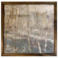 """Carol Post, """"Trees"""", Plaster on Board"""